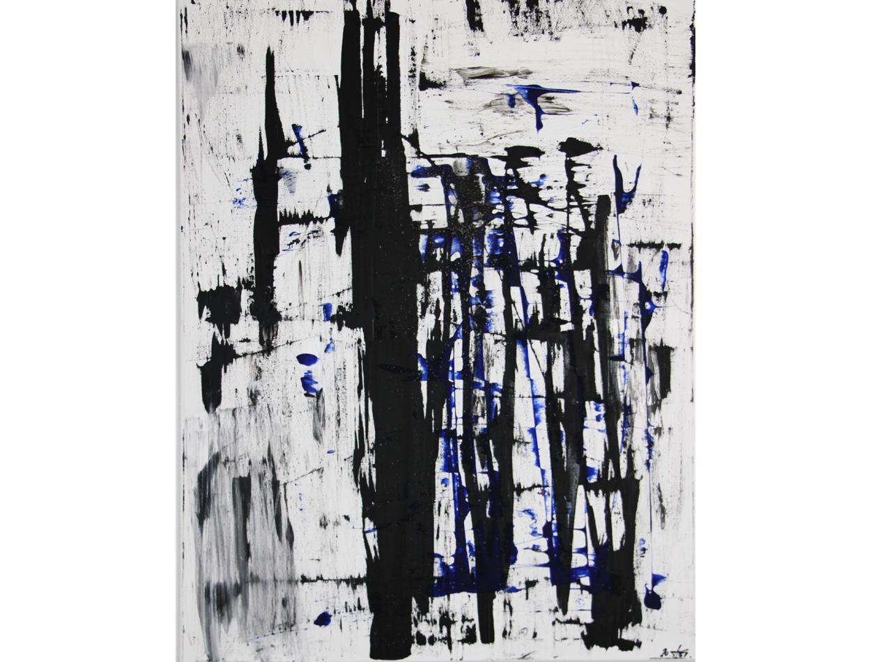 BlackWhite Blue